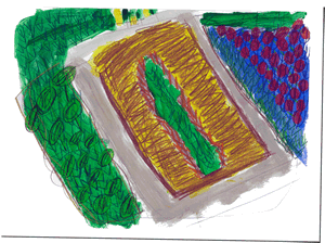 vegie patch illustration